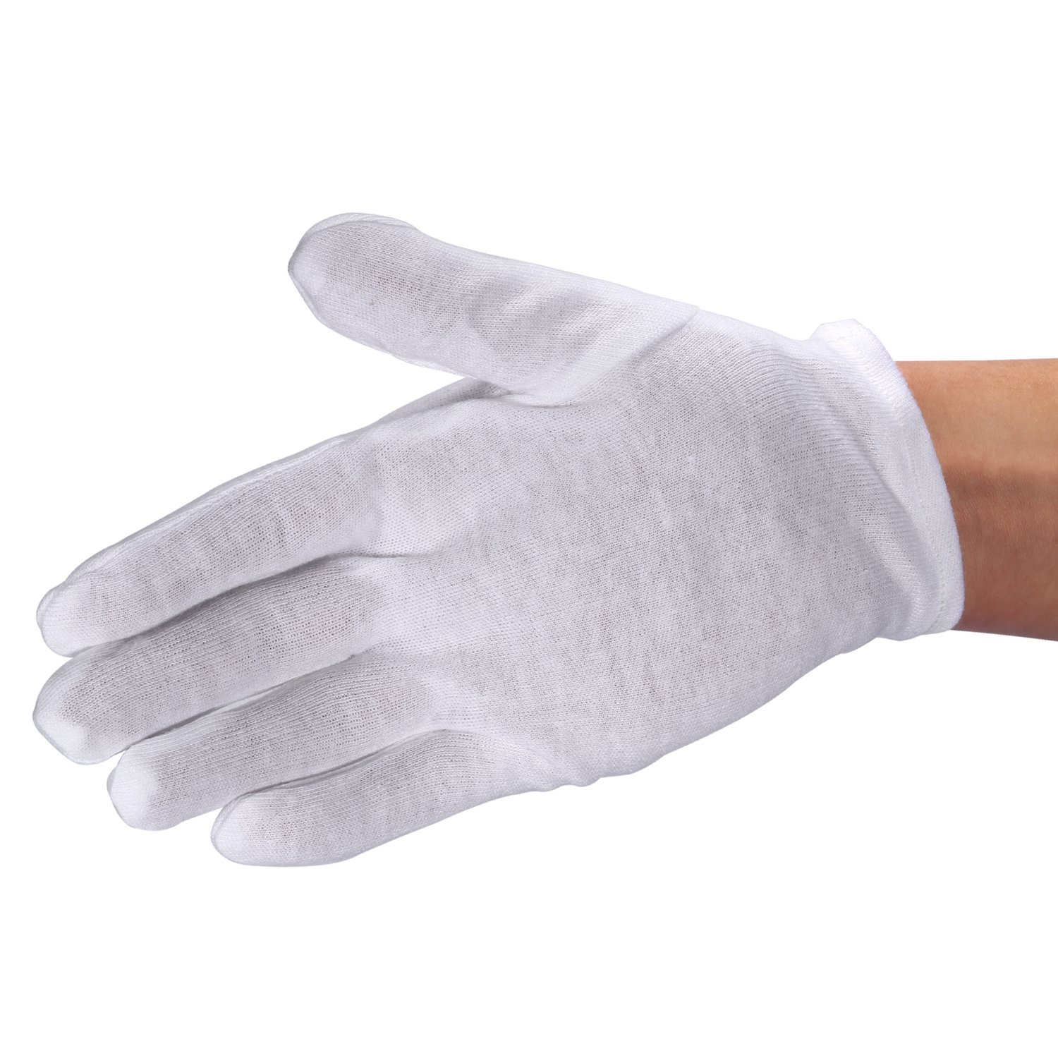 Neewer 24 Pairs (48 Gloves) 100% Cotton Lisle White Inspection Work Gloves for Coin, Jewelry, Silver, or Photo Inspection by Neewer (Image #5)
