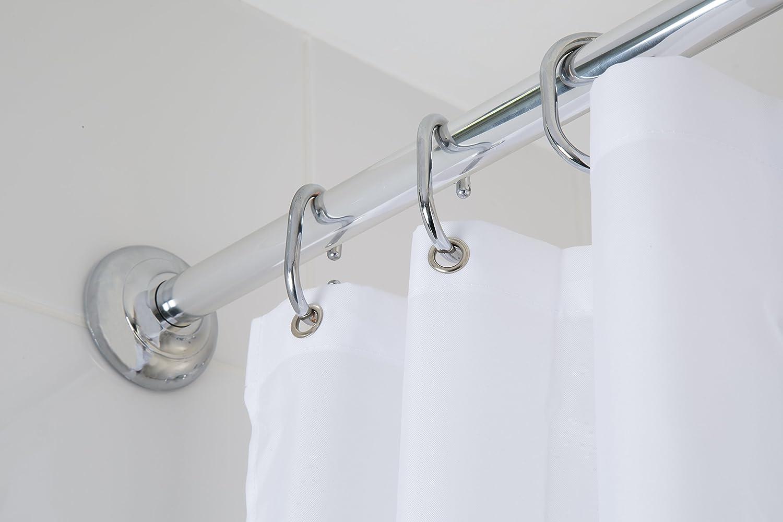 Croydex 4 Way Fit Modular White Shower Rail with Circular Profile