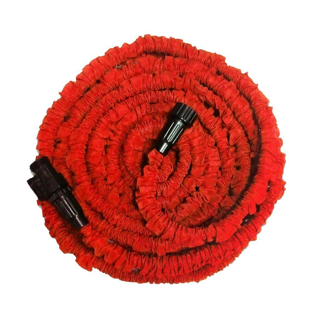 KLAREN Garden Hose, Expandable Garden Hose, 75ft Expanding Garden Hose Lightweight Durable Heavy Duty Flexible Pressure Washer Water Hose for Car Wash Cleaning Watering Lawn Garden Plants Red