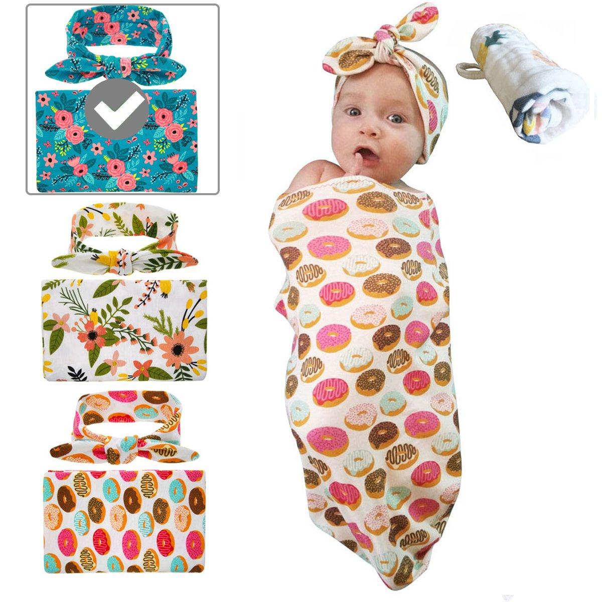 Babylaza - Juego de diadema para bebé recién nacido, manta de ...