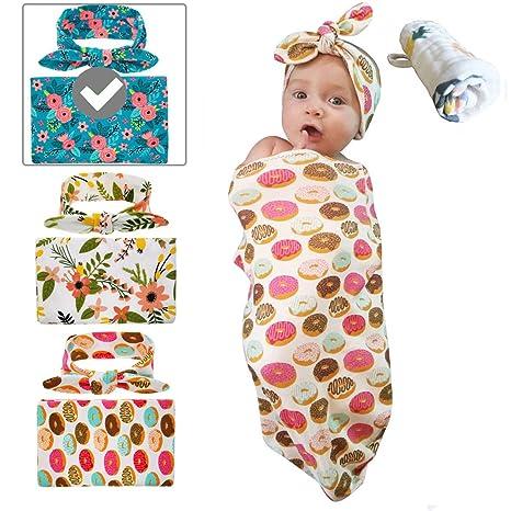 Babylaza - Juego de diadema para bebé recién nacido, manta de recepción, toallas para