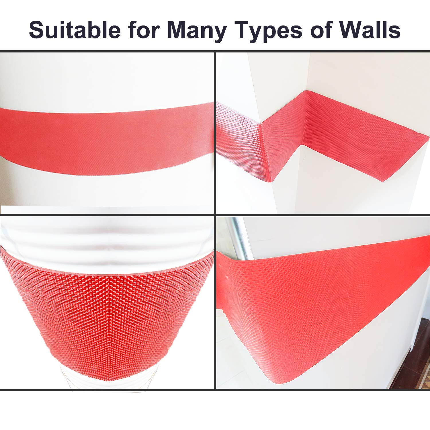 Designed in German Ampulla Water Resistance Garage Wall Protector 1//4 Thickness Red