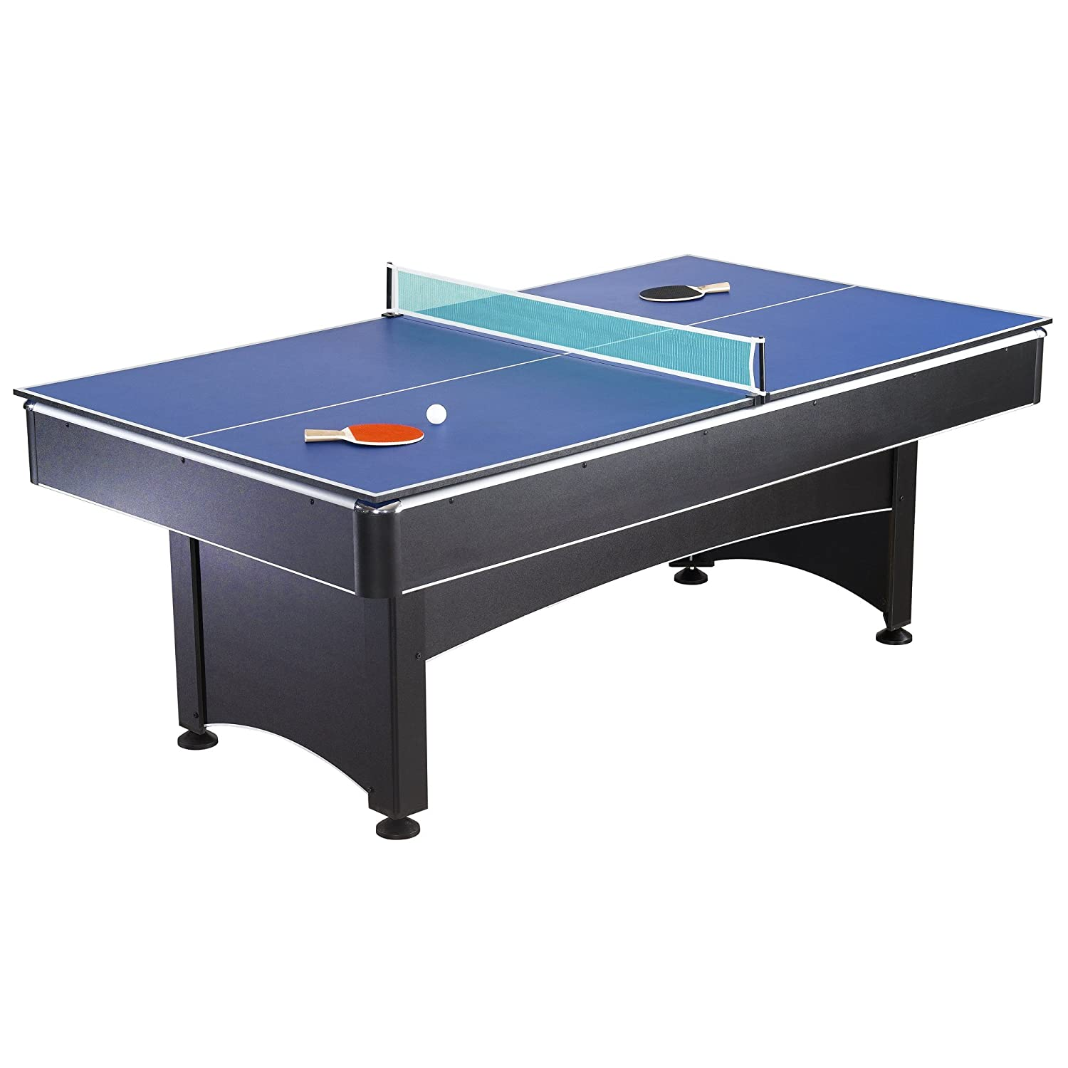 3 in 1 ping pong pool air hockey table - Amazon Com Hathaway Maverick Table Tennis And Pool Table Black Red Blue 7 Feet Tabletop Table Tennis Games Sports Outdoors