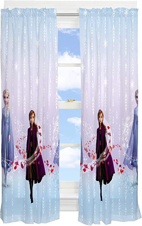 franco lot de rideaux de fenetre pour chambre d enfant motif la reine des neiges de disney 208 3 x 160 cm