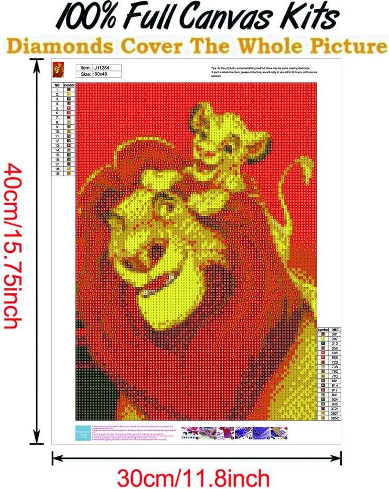 ZZA Kit de Peinture num/érique Bricolage 5D Diamant Cristal Strass Broderie Point de Croix Artisanat Toile d/écoration Murale Mario 12 X16 Pouces 10