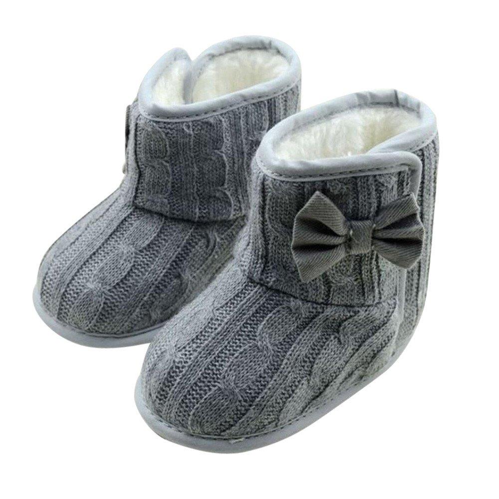 Beikoard - Chaussure Bébé Chaussures Premiers Pas Bébé Fille Bébé d'hiver Doux Et Chaud Semelle Antidérapante
