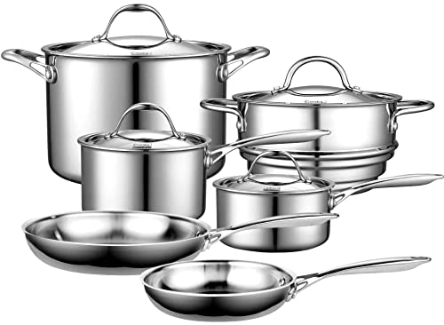 Cooks Standard 10-Piece Multi-Ply Clad Stainless Steel Cookware Set Review