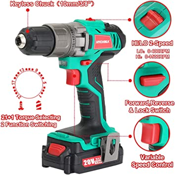 HYCHIKA BETTER TOOLS FOR BETTER LIFE DD-18BC Power Drills product image 5
