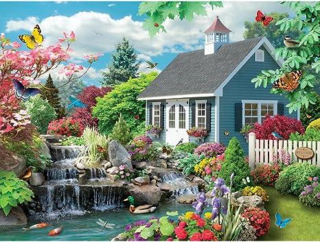 500 pc Jigsaw Wildwife Walk Bits and Pieces by Artist Alan Giana 500 Piece Jigsaw Puzzle -Butterfly Garden