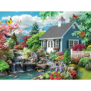 Bits and Pieces - 300 Large Piece Jigsaw Puzzle for Adults - Dream Landscape - 300 pc Spring Scene Jigsaw by Artist Alan Giana