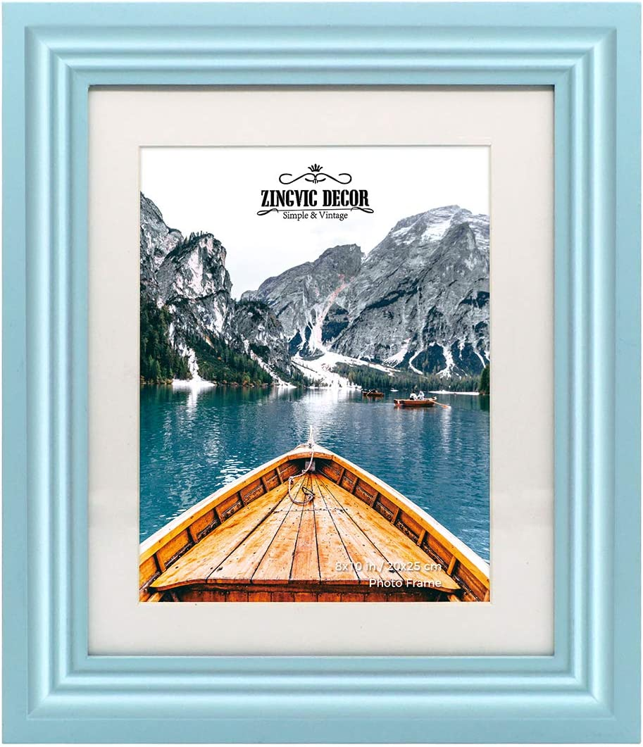Picture Frame Navy Blue Solid Wood Free Shipping Home Decor Wedding Favors Handmade Wall Decor 8x10 1 Gallery Picture Frame