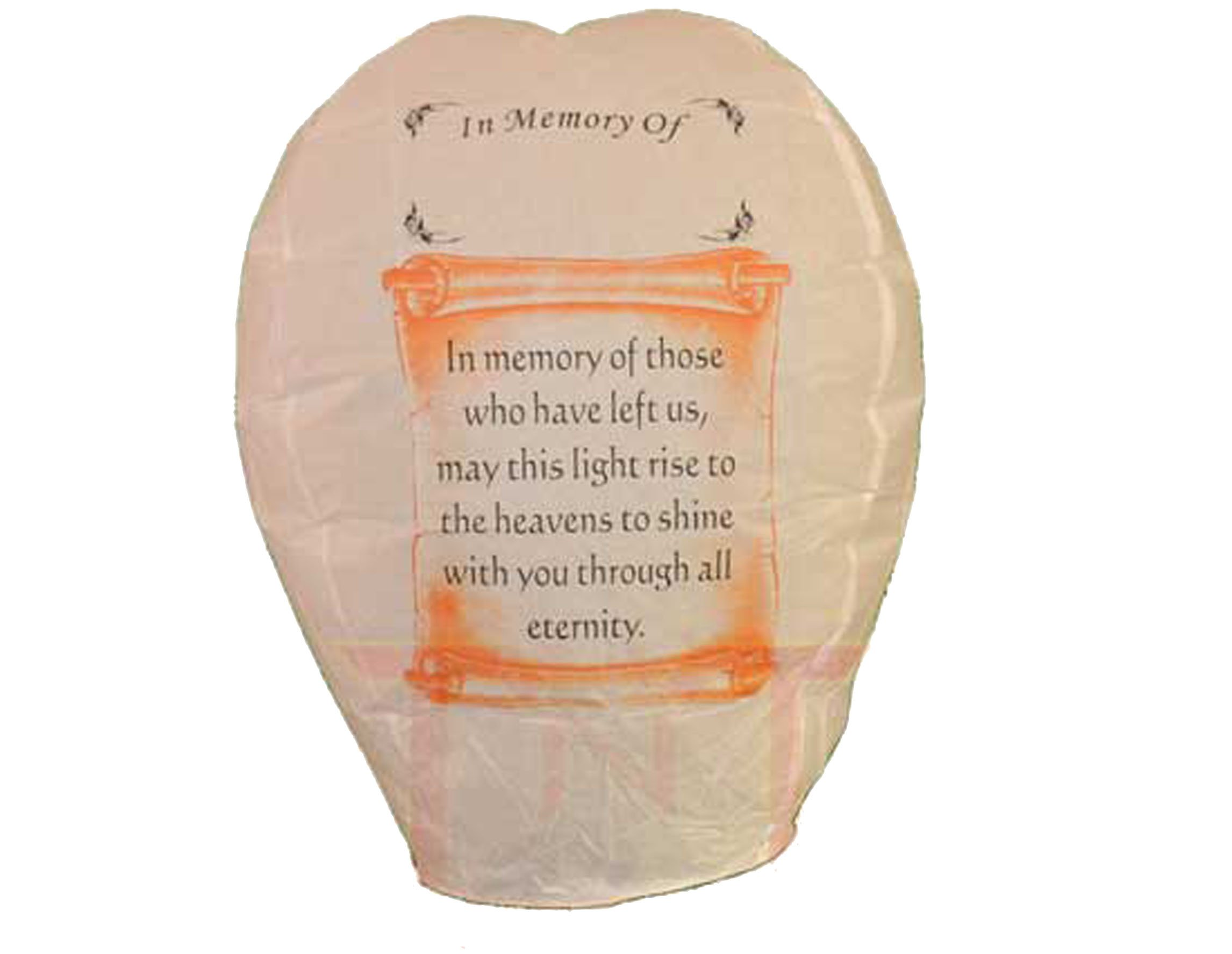 36pc 'Memory' Sky Lanterns, In Memory of...