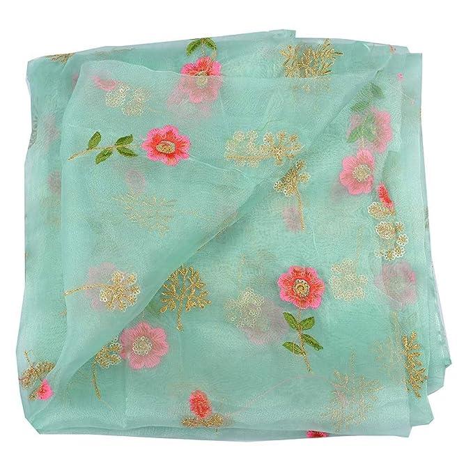 Shopolics Women S Silk Floral Design Embroidery Organza Dress