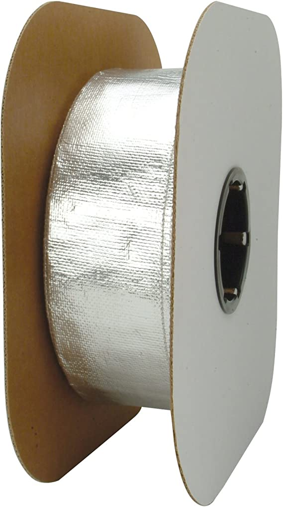 DEI 010418B50 1//2 x 50 Aluminized Heat Sheath