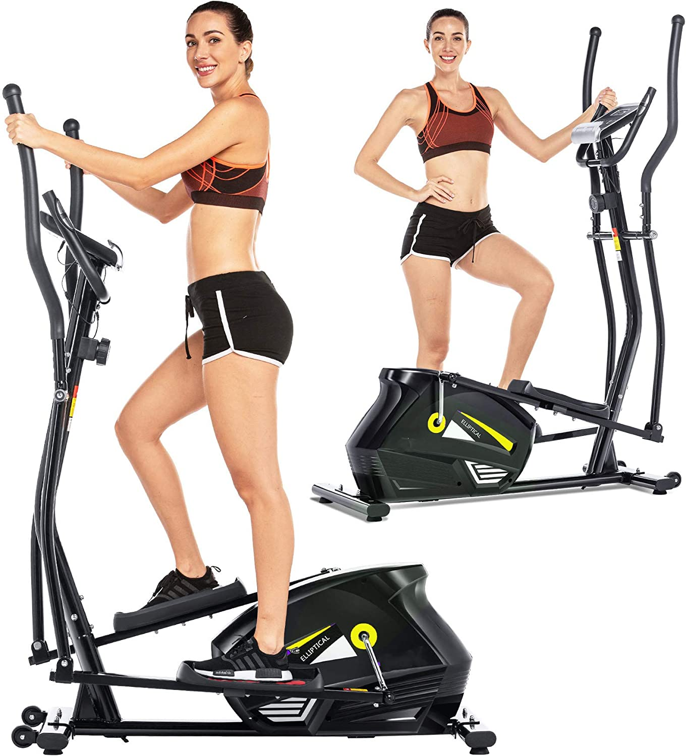ANCHEER Folding Treadmill, Electric Motorized Treadmill with LCD Monitor, Walking Jogging Running Machine Trainer Equipment for Home & Office Workout Indoor Exercise Machine (Orange)