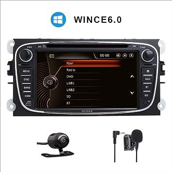 Pantalla táctil capacitiva digital HD de 7 pulgadas para coche, estéreo, DAB+, radio