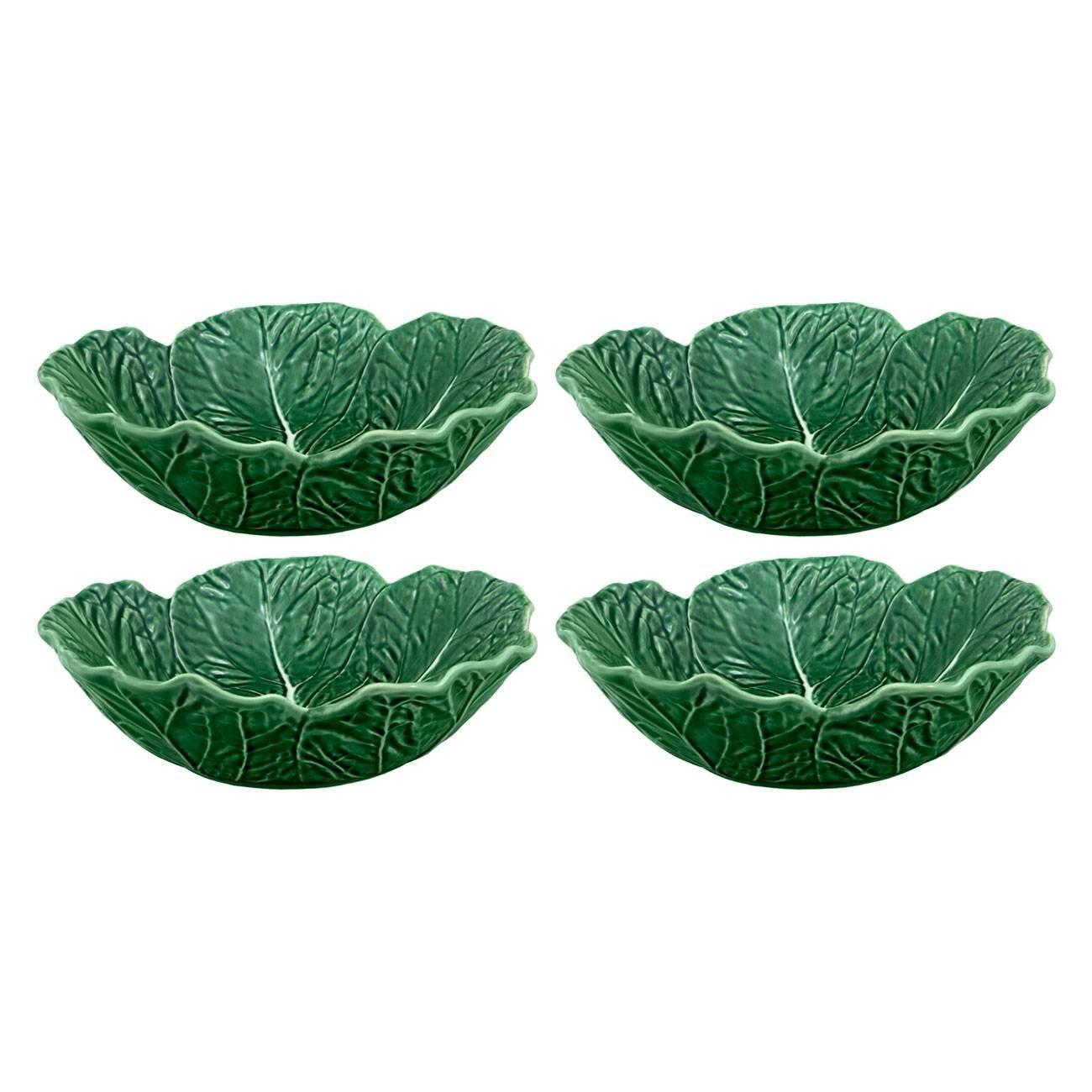 Bordallo Pinheiro Cabbage Green Cereal Bowl, Set of 4 by Bordallo Pinheiro (Image #2)