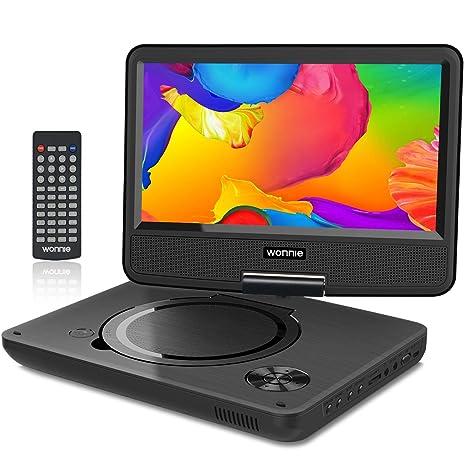 """WONNIE 11.5"""" Reproductor de DVD Portátil para Niños Viaje con 4 Horas Batería Recargable Compatible"""