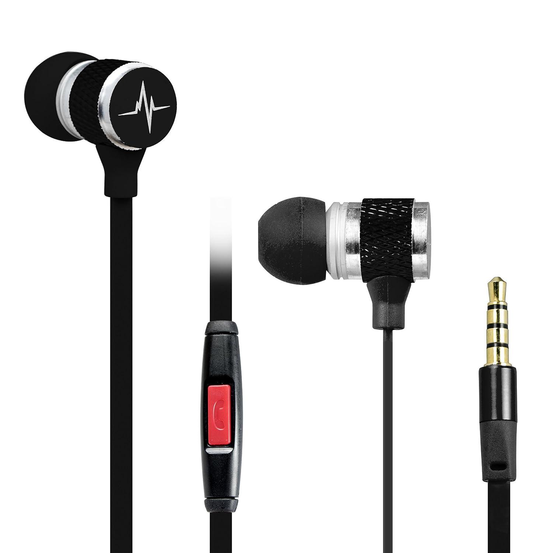 Amazon.com: Denali Audio Premium Universal 3.5mm Earphones with Built-In  Microphone, Black: Cell Phones & Accessories