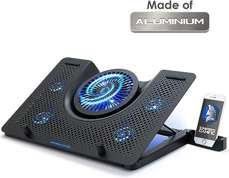 EMPIRE GAMING Turboost - Soporte Aluminium de refrigeración para portátiles Gamer Compatible de 12 a 17 Pulgadas: Amazon.es: Electrónica