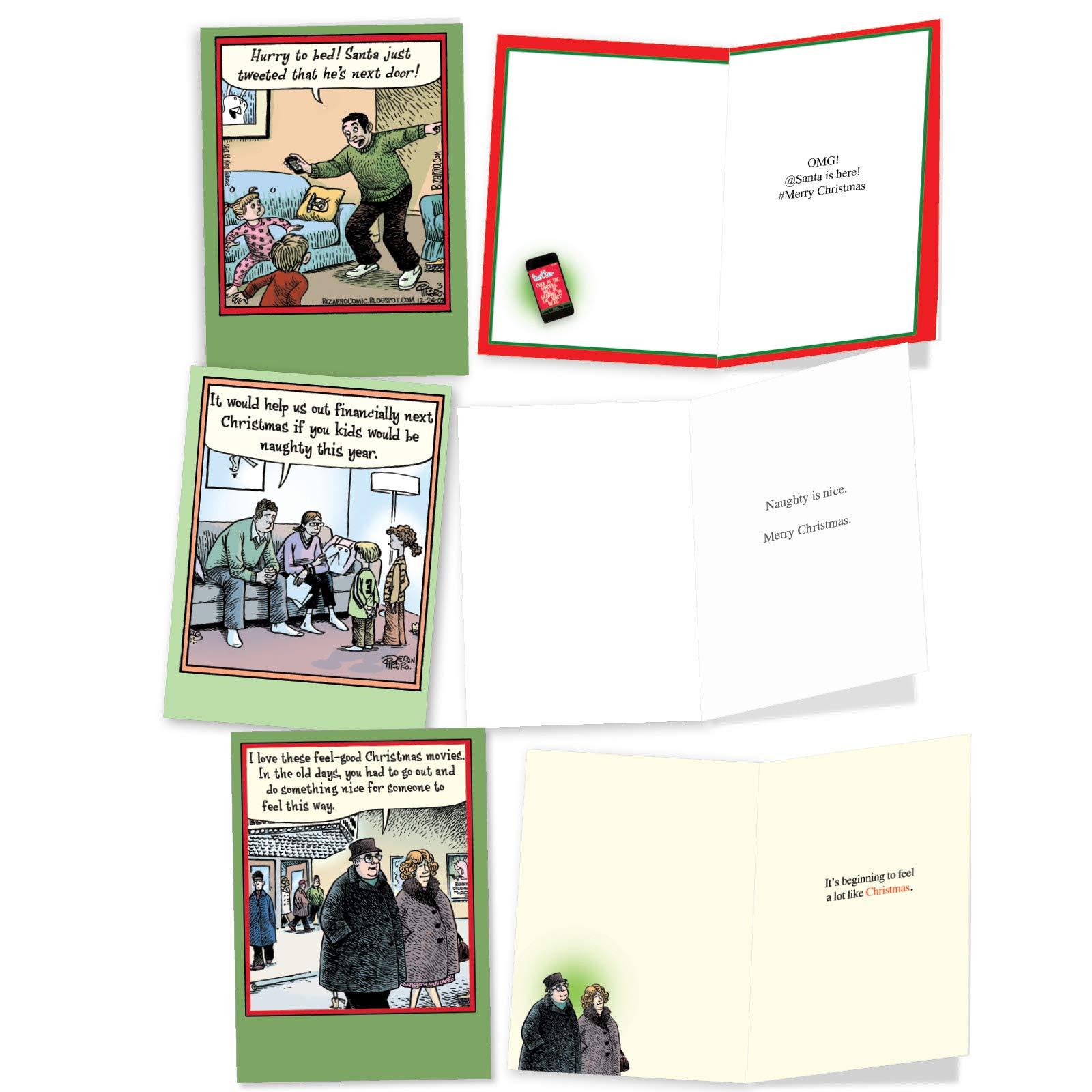 Bulk Xmas Assortment with Envelopes Assorted Notecards of Cartoons Animals 36 Boxed Christmas Cards Funny NobleWorks A Mccoy Bros Christmas AC7139XSG-B1x36