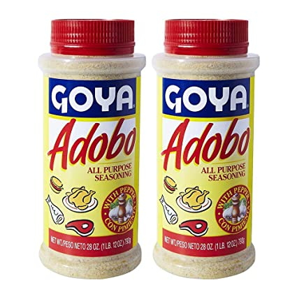 Amazon Com Goya Adobo With Pepper All Purpose Seasoning 28 0 Oz Pack Of 2 Grocery Gourmet Food