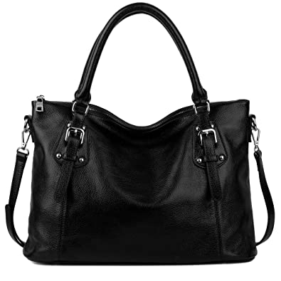 YALUXE Women's Vintage Style Soft Leather Tote Large Shoulder Bag ...