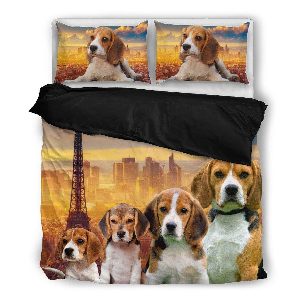 Amazing Beagle Bedding Set - Dog Lovers Gifts - Custom Cover Print Design Pillow Cases & Duvet Blanket Cover - Pet Gift Ideas