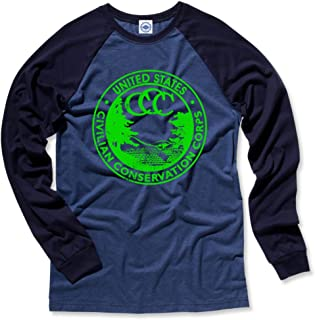 product image for Hank Player U.S.A. CCC (Civilian Conservation Corps) Men's L/S Baseball T-Shirt