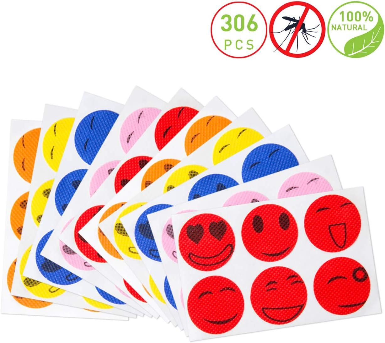 Pegatinas repelentes de Insectos para ni/ños y Adultos GWHOLE 306 Parches repelentes de Mosquitos Naturales sin DEET
