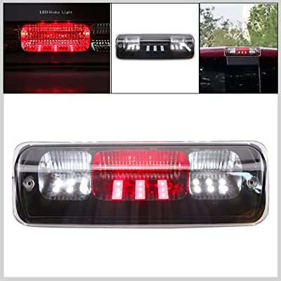 Replacement for Ford F-150 2004-2008 Explorer Sport Trac 2007-2010 Lincoln Mark LT 2006-2008 High Mount LED 3rd Tail Brake/Cargo Light (Black+Clear LEDs): Automotive