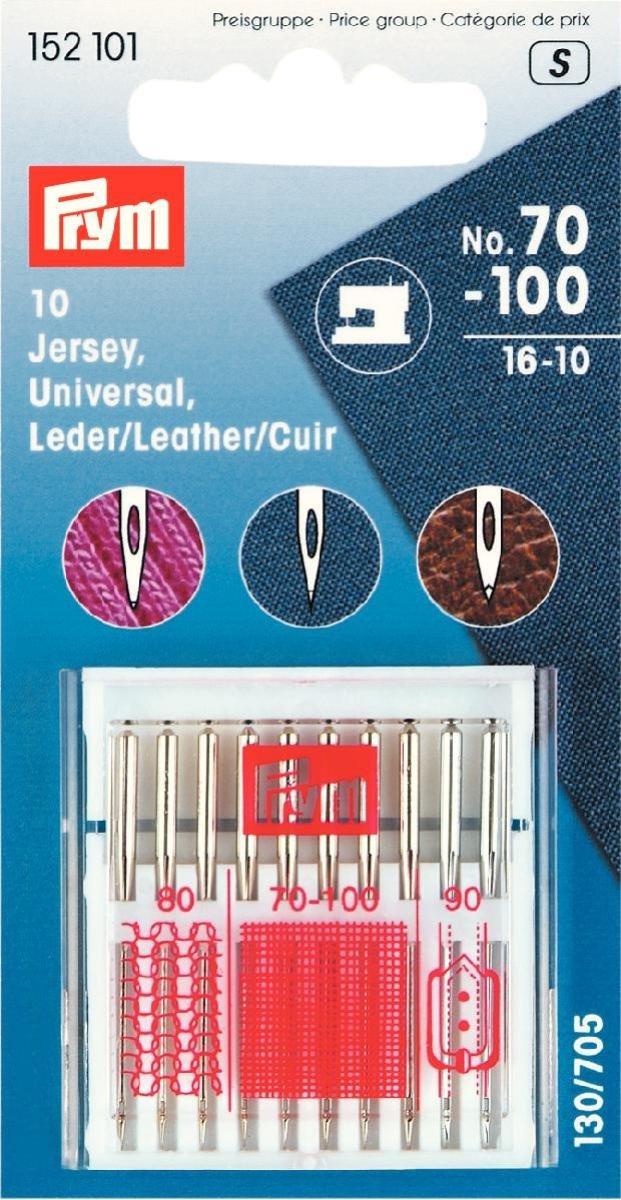 cuir Assortiment d/'aiguilles pour machine /à coudre de 130//705/jersey universel