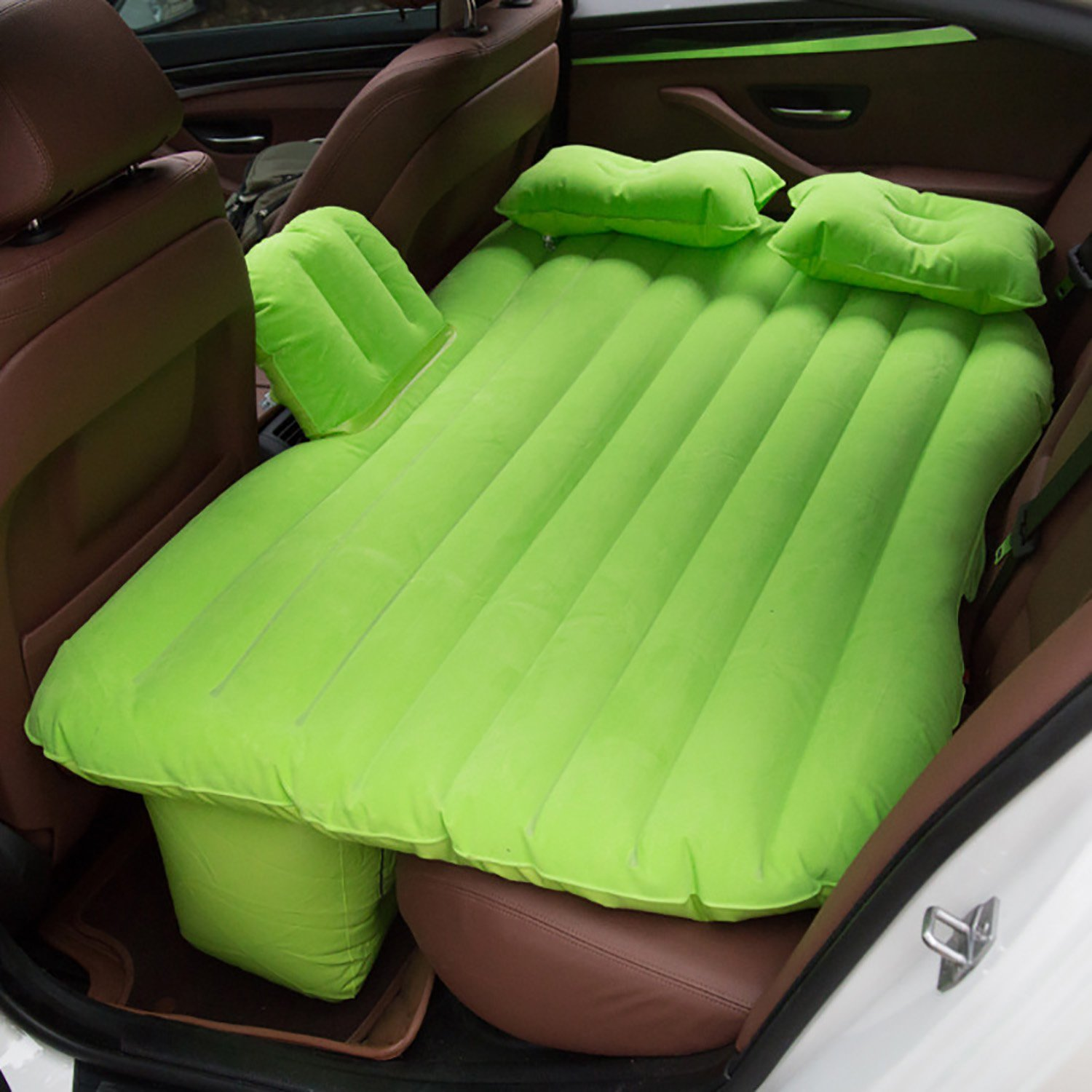 TooCust Car Mattress Travel Camping Air Bed Back Seat Air Mattress Universal SUV Air Couch with 2 Air Pillows,Green