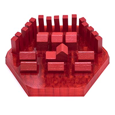 Solid Factory | Settlers Game Piece Holder/Organizer - 4 Colors (Set of 4): Toys & Games