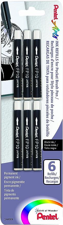 Pentel Pocket Brush Pen for Calligraphy Refill Cartridge by Pentel