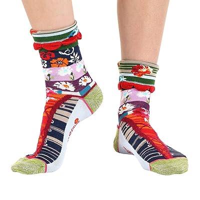 Dub & Drino France Women's Crew Socks, Corset Cuff, US 5/8.5 (FR 36/41, UK 3.5/7): Clothing