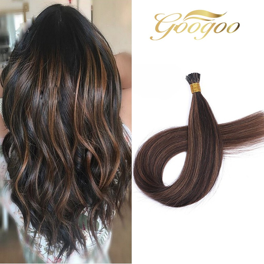 Amazon Googoo Remy Hair Extensions Ombre I Tip Cold Fusion