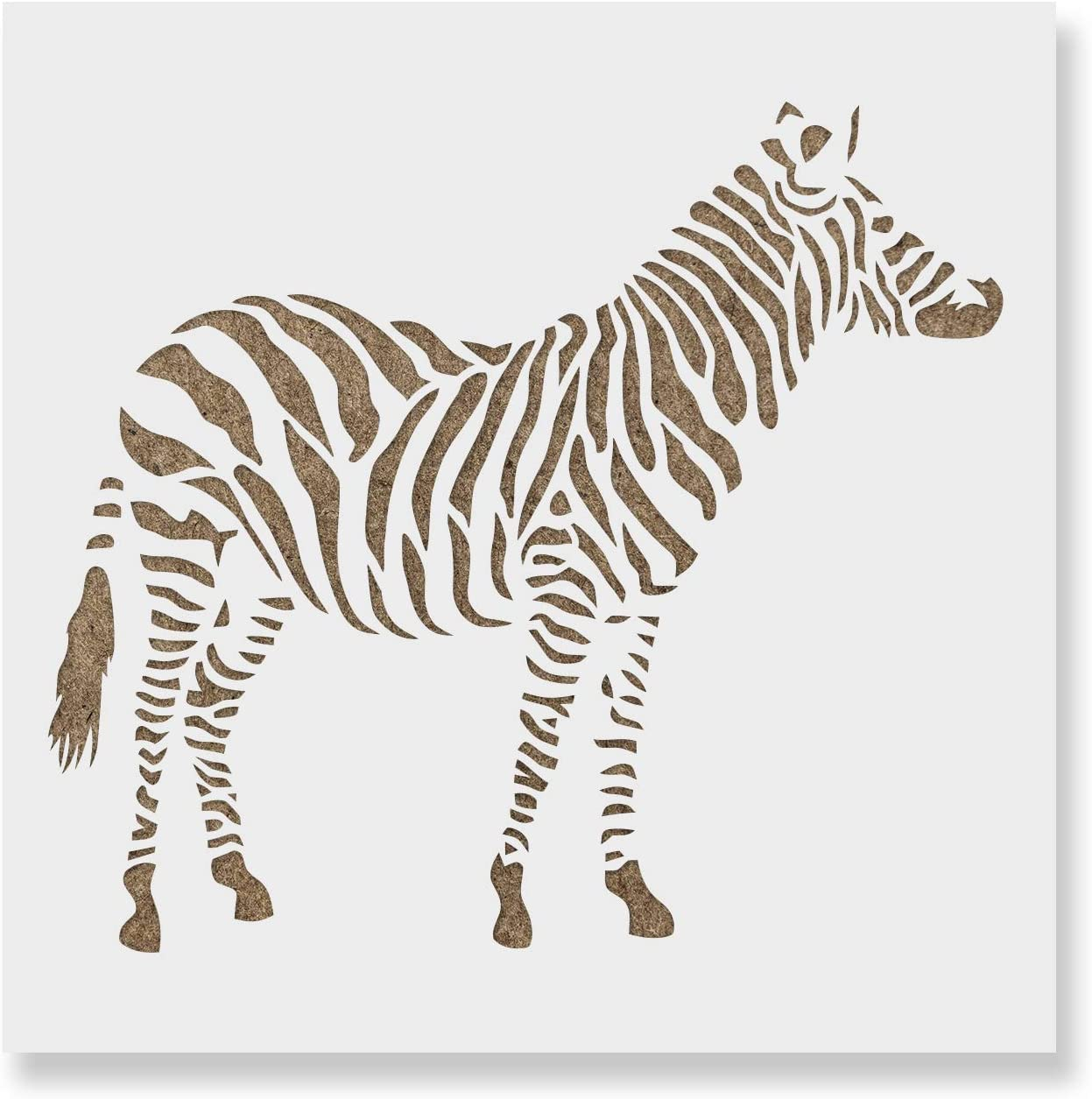 Fabric OBUY Zebra DIY Craft Hollow Layering Stencils for Painting on Wood Reusable 8.26 x 11.61 inch Mylar Template Walls,Decorative Airbrush More