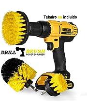 "Swonuk Drill Brush Cepillos para el Taladro, 3pcs Electric Drill Brush 2""3.5"" 4""Cepillo eléctrico para Automóvil, Alfombra, Baño, Piso de madera, Cuarto de lavado, Cocina"
