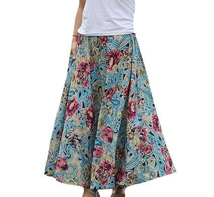 ANDYOU-Women Pintura de Bohemia de algodón de primavera y verano ...