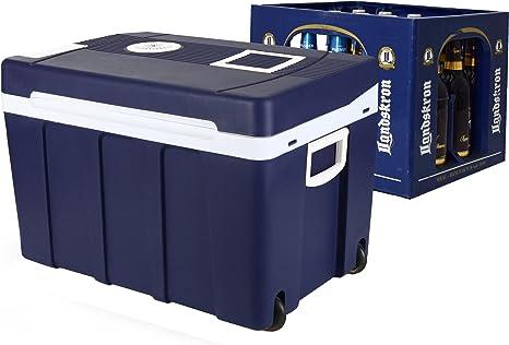 Gino Gelati - Nevera portátil 2 en 1, 50 litros, para cerveza, nevera de camping, 12 y 220 V, GG-55W-50L
