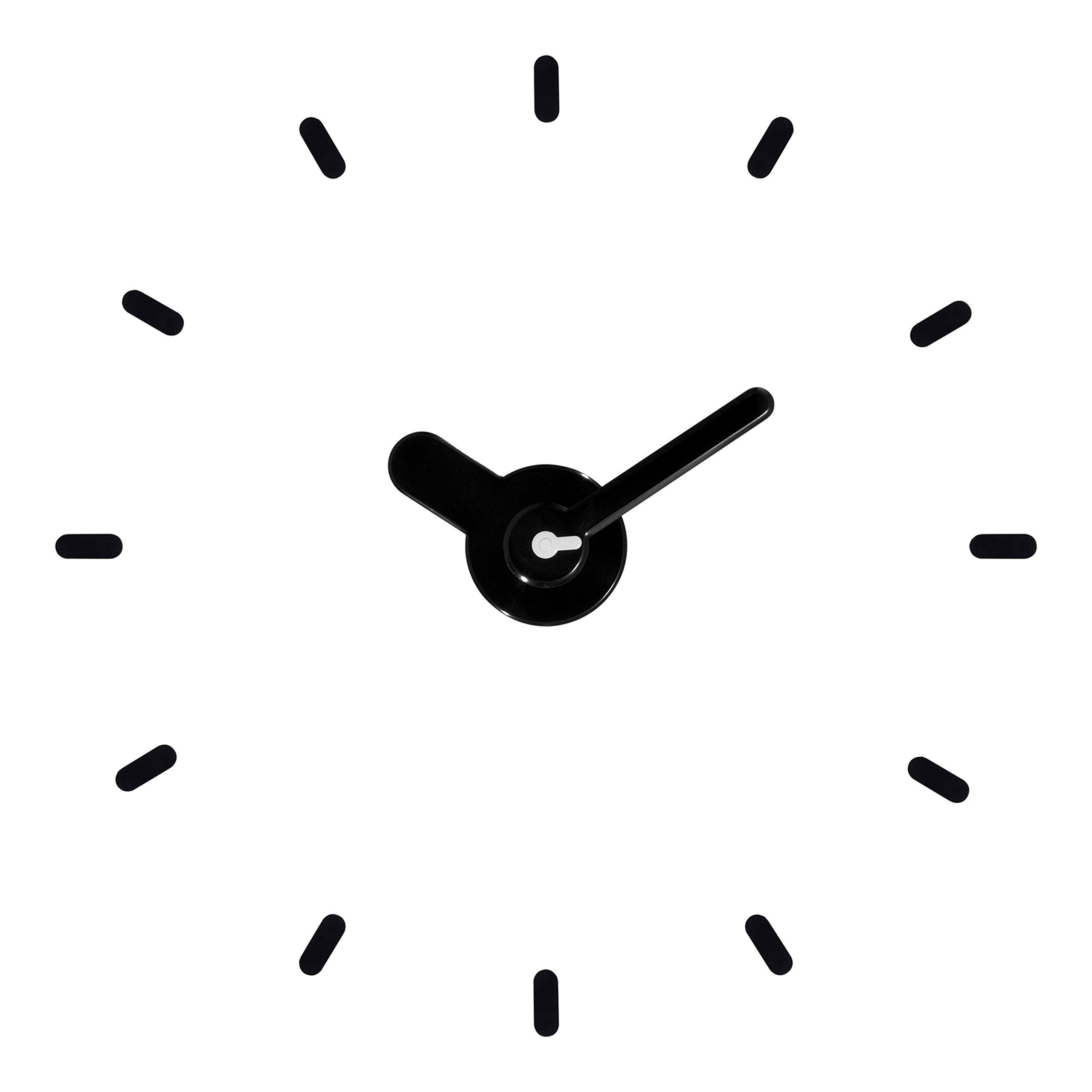 La Crosse Technology 404-3261-Int Adjustable Floating Dial Black Wall Clock