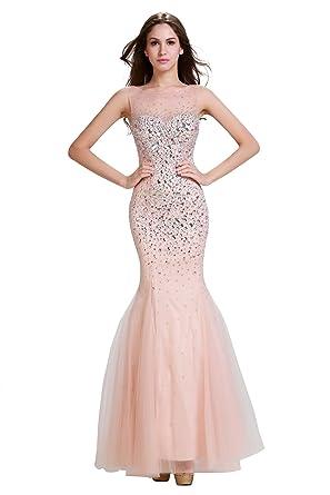 Amazon Annies Bridal Womens Tulle Crystal Long Mermaid