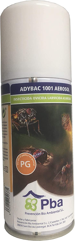 ADYBAC 1001 AEROSOL Insecticida, Ovicida, Larvicida y Acaricida, Descarga Total contra Insectos Rastreros, Voladores y Ácaros - 100ml