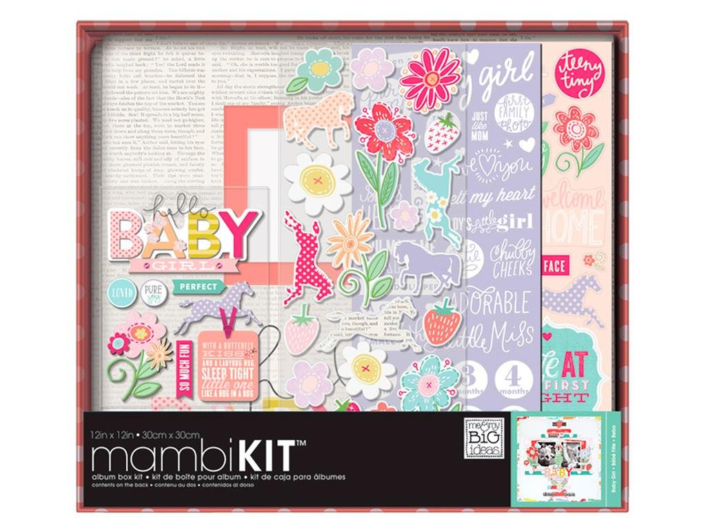 Me and My Big Ideas Me and My Big Ideas Boxed Album Kit 12 x 12 pollici-Sweet Baby Girl MAMBOX.86