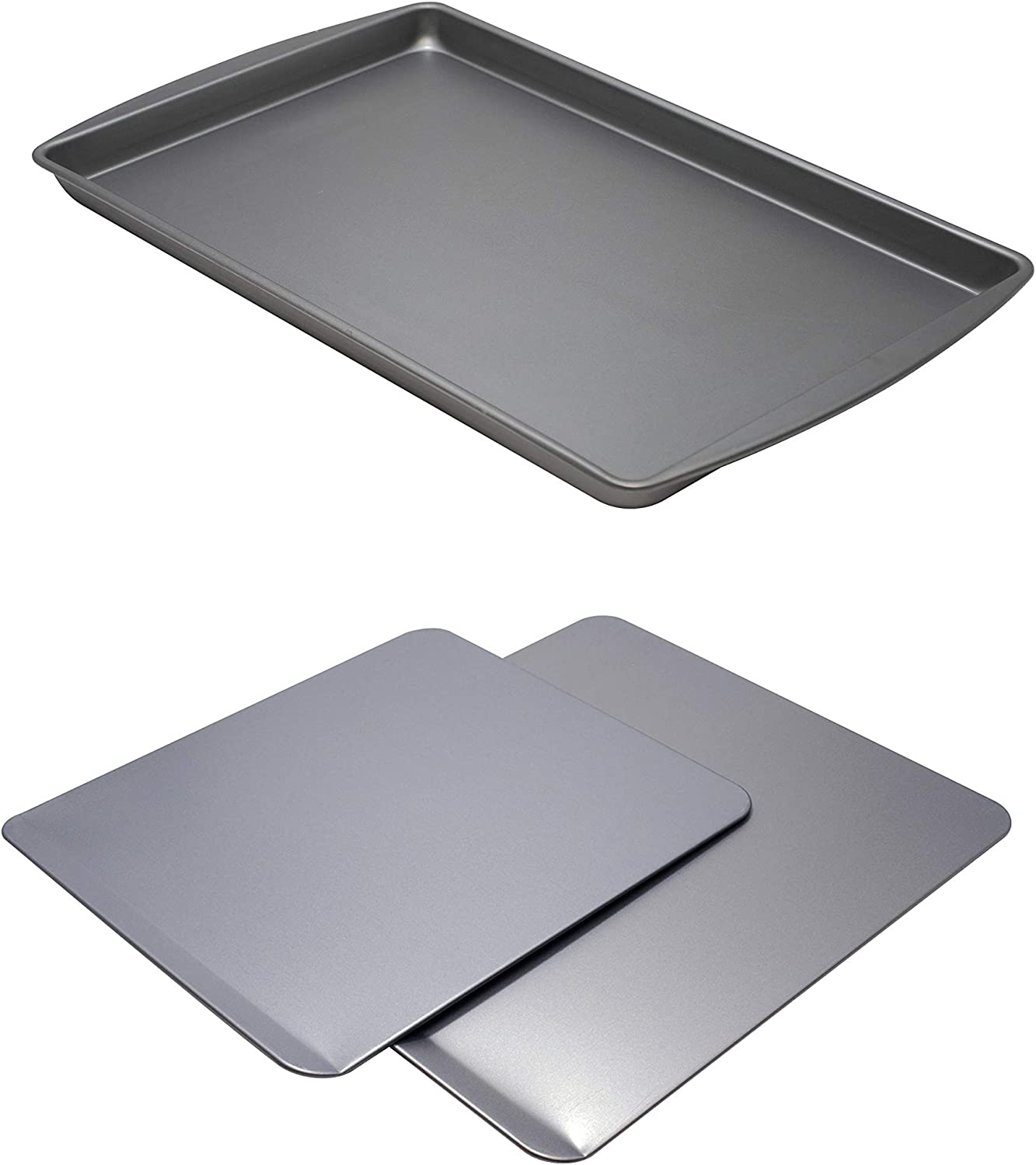 Mainstays Cookie Slider,| 2-Piece| bundle with Mainstays|Large| Non-stick Cookie Sheet Pan|
