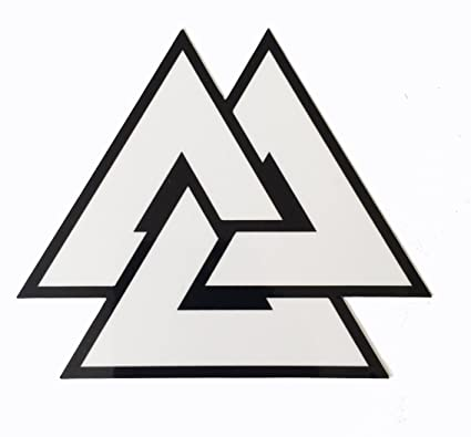 Amazon Viking Odin Symbol Valknut Unicursal 3x4 Decal Vinyl