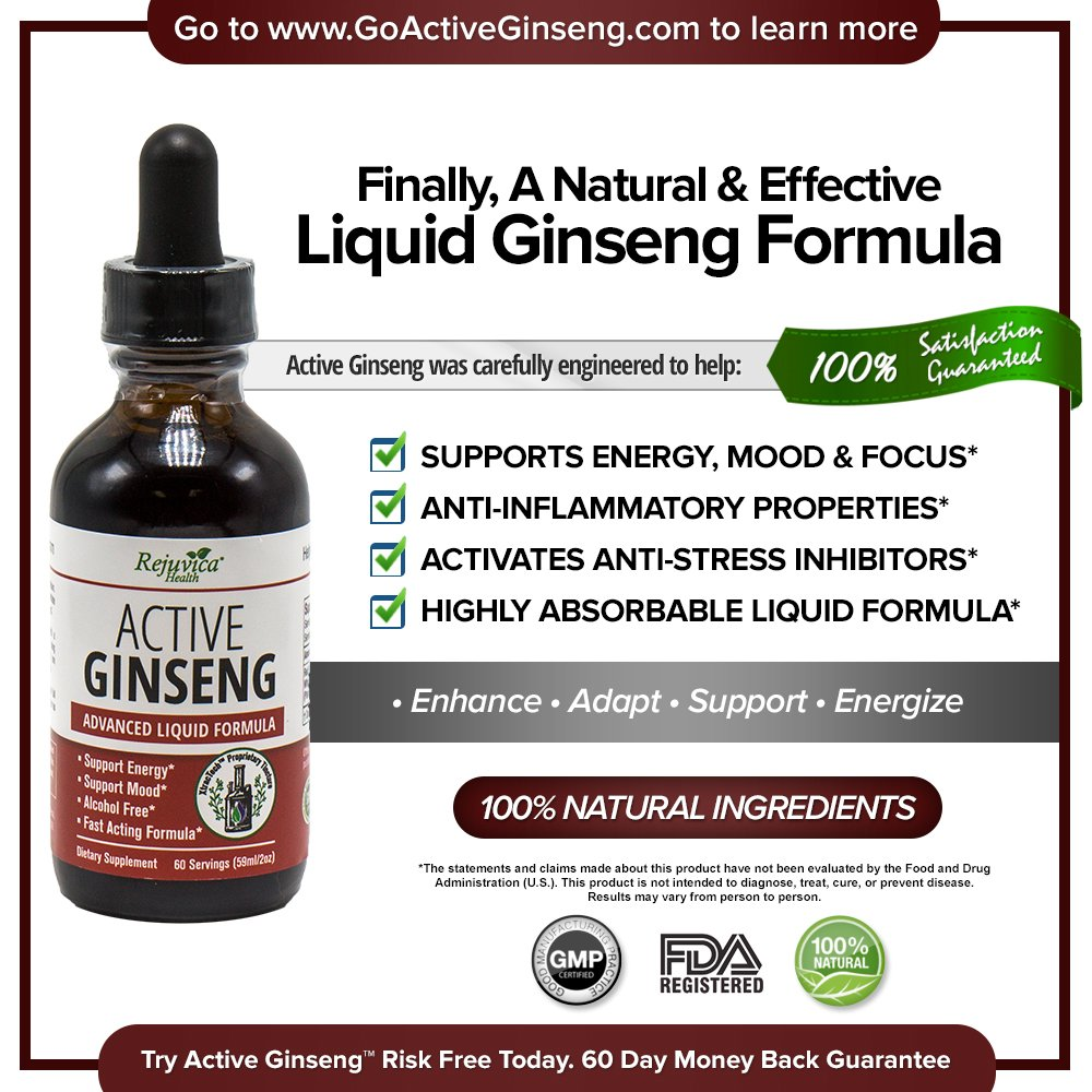 Rejuvica Health - Korean Red Panax Ginseng   All-Natural Liquid Solution for 2X Absorption   Supports Healthy Energy, Vitality, Mood & More by Rejuvica Health (Image #2)