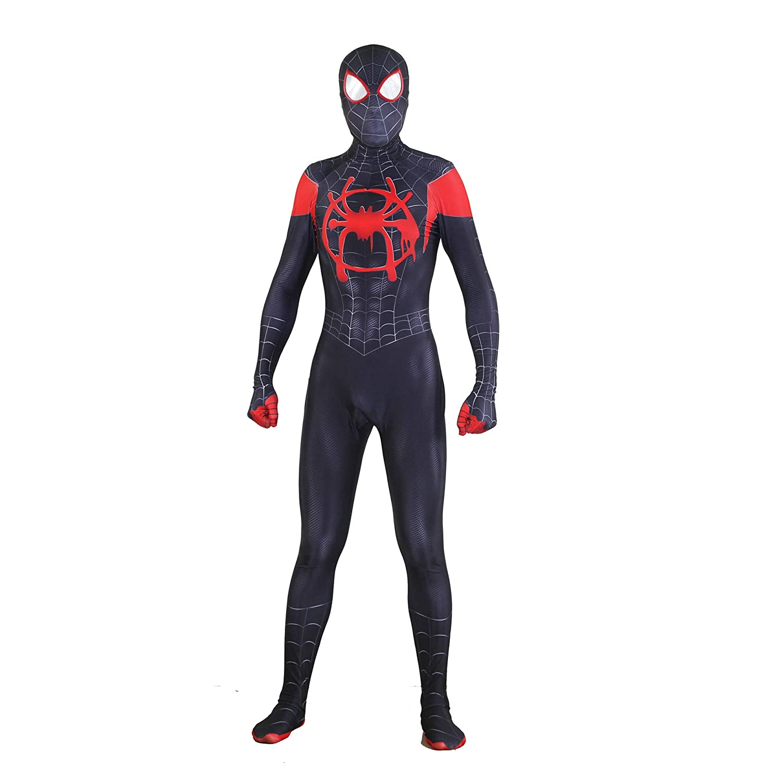 Amazon.com  Gurbanton Spiderman Into The Spider Verse Costume Miles Morales  Cosplay Zentai 3D Bodysuit for Halloween Holiday  Clothing 4a12c9c06976d