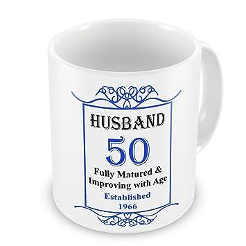 Ehemann 50 Geburtstag 1966 Jahr Eingerichtet Tasse Blau Amazon